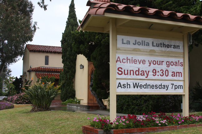 La Jolla Lutheran Church sign - Achieve your goals