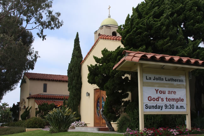 La Jolla Lutheran Church sign - You are God's temple