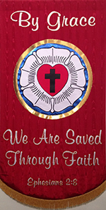 Banner: By grace we are saved through faith
