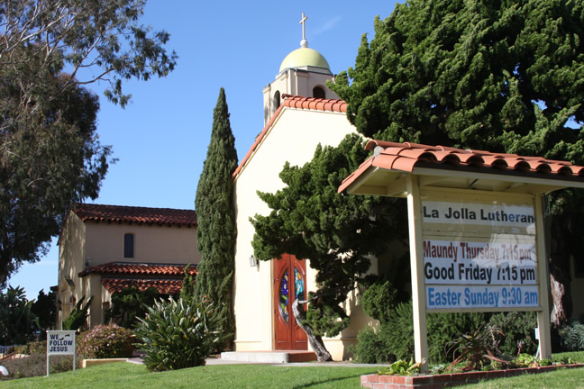La Jolla Lutheran Church Sign -